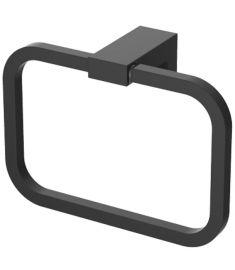 Wellis MAMBA törölközőtartó, fali, szögletes, 17.2x12 cm, fém, matt fekete, WE00115
