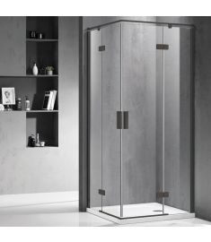 Wellis MURANO zuhanykabin, szögletes, 90x90x195 cm, átlátszó üveg/matt fekete keret, WC00420