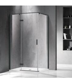 Wellis PALMARIA zuhanykabin, balos, Easy Clean bevonat, 120x90x195 cm, átlátszó üveg/fekete keret