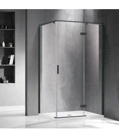 Wellis PALMARIA zuhanykabin, jobbos, Easy Clean bevonat, 120x90x195 cm, átlátszó üveg/fekete keret
