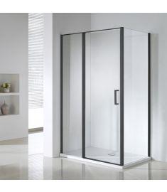 Wellis TRITON BLACK zuhanykabin, Easy Clean bevonat, 120x80x190 cm, átlátszó üveg/matt fekete keret