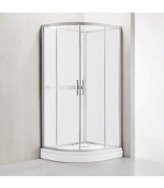 Wellis VIVARA hátfalas zuhanykabin, zuhanytálcával, Easy Clean bevonat, 90x90x210 cm