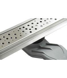 Wellis W-DRAIN DOTS 90 rozsdamentes acél zuhanyfolyóka szett, ráccsal, 90x7x9.5 cm, 17020516-643