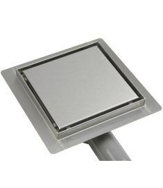 Wellis W-DRAIN FLAT padlóösszefolyó, burkolható/teli fedlappal, 15x15x7.5 cm, 17020516-651