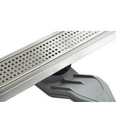 Wellis W-DRAIN SQUARE 90 rozsdamentes acél zuhanyfolyóka szett, ráccsal, 90x7x9.5 cm, 17020516-633