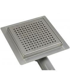 Wellis W-DRAIN SQUARE rozsdamentes acél padlóösszefolyó, 15x15x7.5 cm, 17020516-650