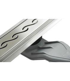 Wellis W-DRAIN WAVY 90 rozsdamentes acél zuhanyfolyóka szett, ráccsal, 90x7x9.5 cm, 17020516-648