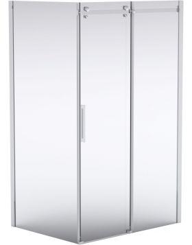 Deante HIACYNT két részes zuhanyajtó, 140x200 cm, átlátszó üveg, króm keret KQH014P