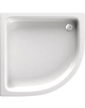 Deante STANDARD PLUS íves zuhanytálca 80x80x26 cm akril, fehér KTU032B