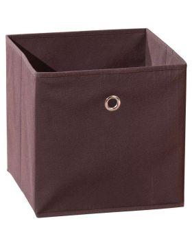 WINNY tárolódoboz, barna színű szövet, 32x32x31 cm HM0559