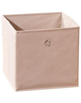 WINNY tárolódoboz, bézs színű szövet, 32x32x31 cm HM0557