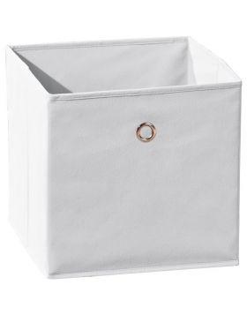 WINNY tárolódoboz, fehér színű szövet, 32x32x31 cm HM0558