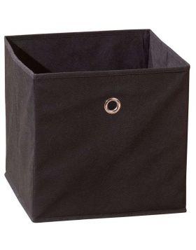 WINNY tárolódoboz, fekete színű szövet, 32x32x31 cm HM0560