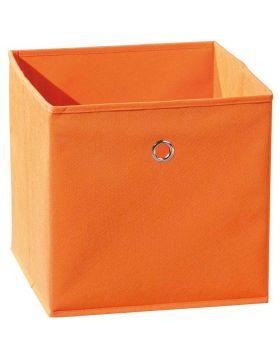 WINNY tárolódoboz, narancssárga színű szövet, 32x32x31 cm HM0563