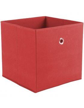 WINNY tárolódoboz, piros színű szövet, 32x32x31 cm HM0561