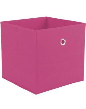 WINNY tárolódoboz, rózsaszín színű szövet, 32x32x31 cm HM0565