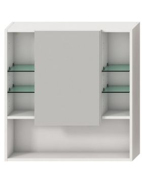 Jika LYRA tükrös fürdőszoba szekrény, 77,5x80 cm fehér H4532510383041