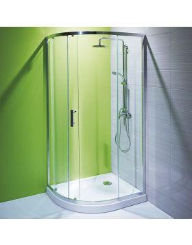 Jika TIGO zuhanykabin, 100x80 cm, fényes króm, átlátszó üveg H2512110026681