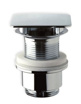 Sapho mosdó lefolyó túlfolyó nélkül, nem zárható, magasság 30-45mm, réz/króm 447.555.5