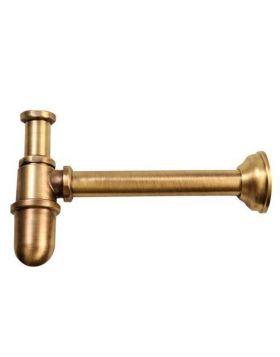 Reitano ANTEA mosdó szifon, retro, sárgaréz/bronz 9596