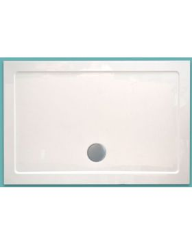 Wellis Szögletes akril zuhanytálca, lapos, 120x80x4 17020516-285
