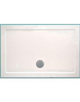Wellis Szögletes akril zuhanytálca, lapos, 120x90x4 17020516-283