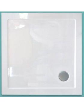 Wellis Szögletes akril zuhanytálca, lapos, 90x90x4 17020516-281