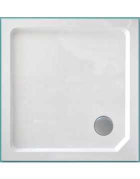 Wellis Szögletes akril zuhanytálca, magas, 90x90x15 17020516-280