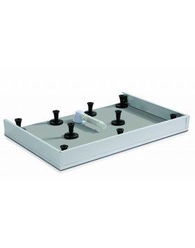 Wasserburg PETRA zuhanytálca előlap, 120x90 cm, fehér alumínium, 2506-E90
