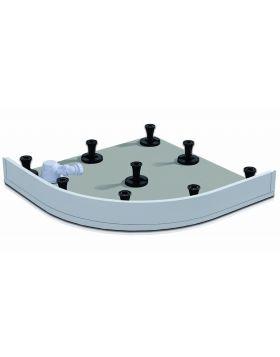 Wasserburg PETRA zuhanytálca előlap, 90x90 cm, íves, fehér alumínium, 2503-E90